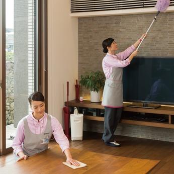 フォロー体制が万全なのでお掃除が苦手な方でも大丈夫。家庭と両立して働きたい方にもピッタリです。